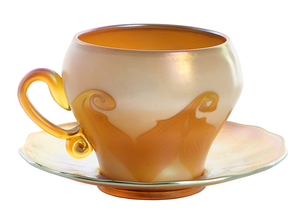 Quezal teacup and saucer