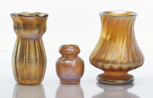 Louis Comfort Tiffany objects, group of three