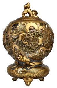 Satsuma large censer incense vase