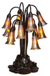 Tiffany Studios twelve lilly table lamp