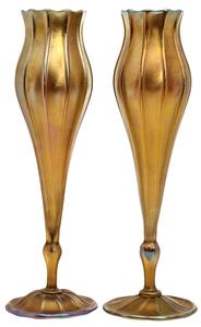 Louis Comfort Tiffany Floriform vases, pair