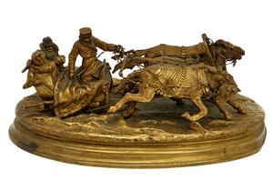 Vasili Grachev (Russian, 1831-1905) Winter Ride in a Troika