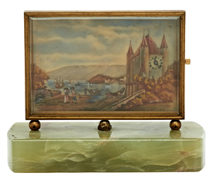 French enameled plaque