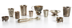 Russian objects, group of eleven