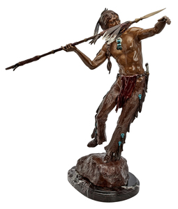 Elie Hazak (Israeli-American, b. 1945) Indian Hunter bronze