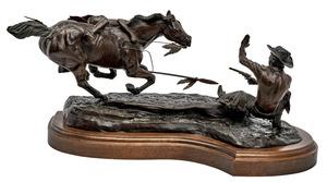 Sid Burns (American, 1916-1979) Frantic Moment bronze
