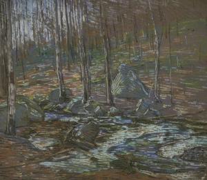 Charles S. Kaelin (American, 1858-1929) pastel on paper