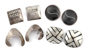 Earrings, four pair