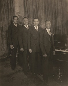 James VanDerZee Studio Portrait of Four Gentlemen at the Piano