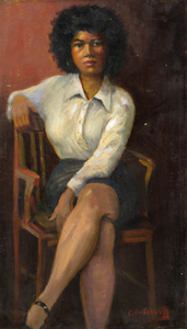 Charles Bohannah Seated Woman