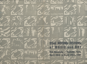 Aaron Douglas 32nd Annual Festival of Music and Art Fisk University Cover Art
