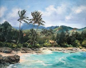 Beverly Fettig Hawaiian Shore Scene