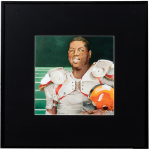Jerry Pinkney Portrait of Ernie Davis