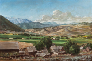 Lynn Fausett Ranch Style, Scene Near Heber City, Provo River Valley, Utah