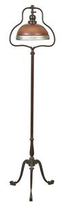Handel floor lamp with Steuben shade