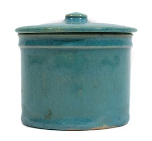 University City Pottery by Taxile Doat lidded vessel