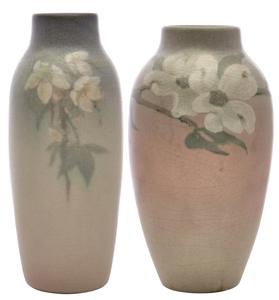 Rookwood Pottery vases by O.G. Reed, Lorinda Epply