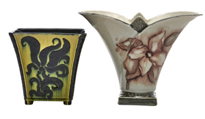 Rookwood Pottery by Katherine Elizabeth Ley, Jens Jensen vases