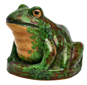 Weller Pottery Coppertone frog