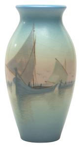 Rookwood Pottery by Carl Schmidt  Harbor Scene vase
