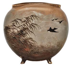 Rookwood Pottery by Albert Valentien Swallows vase