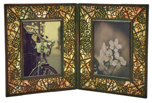 Tiffany Studios Grapevine double picture frame