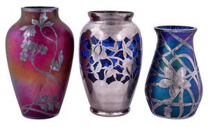 European Art Nouveau vases, group of three