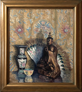 Charles Todd (American, 1886-1950) Still Life with Buddah oil on canvas