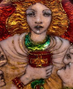 Phoebe Anna Traquair Holy Grail pendant, attribution
