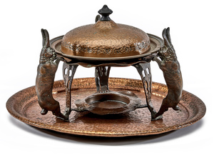 Joseph Heinrichs chafing dish and tray