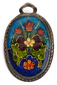 Arts & Crafts Floral pendant/pin