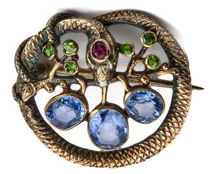 Victorian Snake brooch