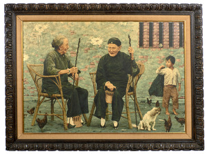 S.W. Liou (Chinese) oil on canvas