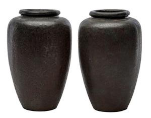 Arts & Crafts vases, pair