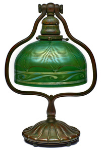 Tiffany Studios harp lamp