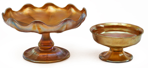 Louis Comfort Tiffany compotes, two