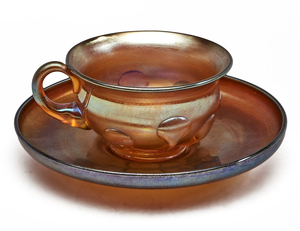 Louis Comfort Tiffany cup and saucer