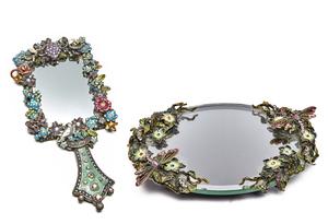 Perfume Tray and Mirror