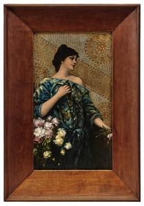 Conrad Kiesel Art Nouveau mixed media