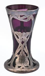 Austrian glass vase