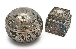 American art nouveau inkwells