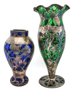 American and Czechoslovakia art nouveau vases