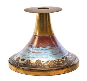 Loetz candlestick
