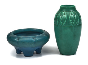 Rookwood Pottery bowl and vase