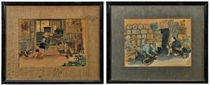 Wada Sanzo hand colored woodblock prints