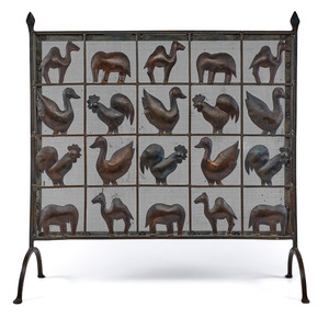 Arts and Crafts fireplace screen