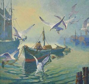 Clayton Staples painting