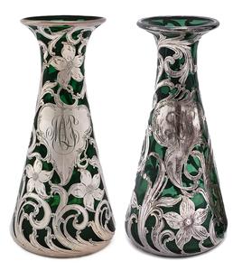 American art nouveau vases