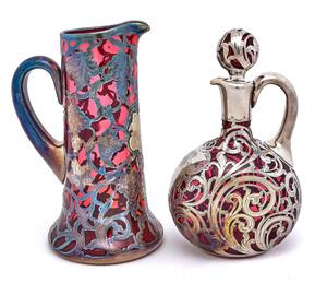 American art nouveau handled pitcher and jug